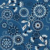 Seamless simple pattern with circles and decorative elements on Stock Photo