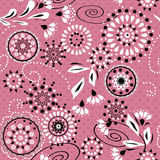 Seamless simple pattern with circles and decorative elements on Royalty Free Stock Image