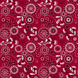 Seamless simple pattern with circles and decorative elements on Stock Photography