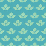 Seamless simple pattern with flower, rose, stems Stock Images