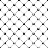 Seamless simple pattern with hipster photo or Royalty Free Stock Images