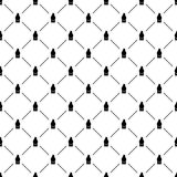 Seamless simple pattern with houses Royalty Free Stock Image
