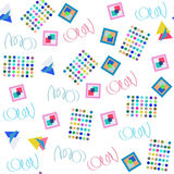 Seamless simple pattern. It is located in swatch menu,vector. Image Royalty Free Stock Photography