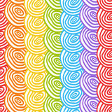 Seamless simple rainbow doodle background Stock Image