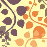 Seamless simple shape leaves wallpaper Stock Photography
