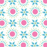Seamless simple spring flowers pattern Stock Images