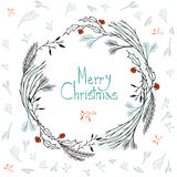 Seamless simple vector graphics pattern. Tile Christmas background. With holiday decorations Stock Photos