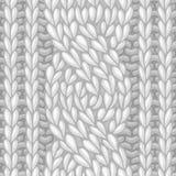 Seamless six-stitch cable stitch. Stock Photos
