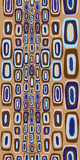 Seamless Sixties Pattern. In beige, brown, blue Stock Images