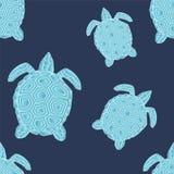 Seamless sköldpadda illustration Arkivfoton