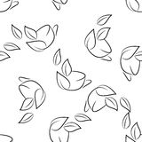 Seamless of sketch cups Royalty Free Stock Images