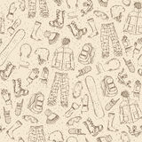 Seamless sketch pattern. Royalty Free Stock Photography