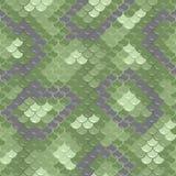 Seamless skin pattern. Green dragon skin. Seamless squama texture pattern Stock Images