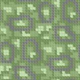 Seamless skin pattern. Green dragon skin. Seamless squama texture pattern Stock Photos