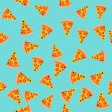seamless skiva för modellpizza Det kan vara nödvändigt för kapacitet av designarbete Skjutit i en studio royaltyfri illustrationer