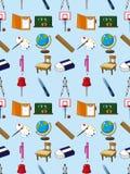Seamless skola beståndsdelen mönstrar Arkivfoton