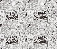 Seamless skola mönstrar stock illustrationer