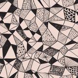 Seamless skraj mönstrar stock illustrationer