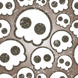 Seamless skull background with dirty texture. Above graphic Stock Image