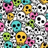 Seamless skull background Stock Image