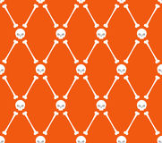 Seamless  Skull and bone  pattern. halloween background Stock Photography