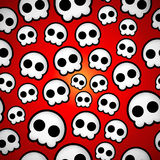 Seamless skull emo design Royalty Free Stock Photo