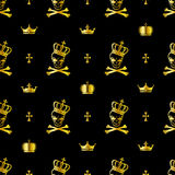 Seamless skull pattern Royalty Free Stock Image