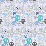 Seamless Skull Pattern Stock Image