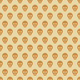 Seamless skull pattern. Stock Image