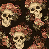 Seamless Skull Pattern Royalty Free Stock Photography