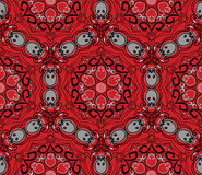 Seamless skull pattern Stock Photo