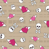 Seamless skulls Royalty Free Stock Photo