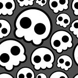 Seamless skulls Stock Photography