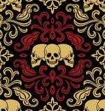 Seamless with skulls stock illustration
