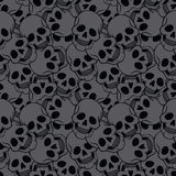 Seamless with skulls Royalty Free Stock Image
