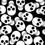 Seamless with skulls Royalty Free Stock Photos