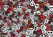 Seamless Skulls background Stock Photo