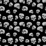 Seamless Skulls Black Royalty Free Stock Images