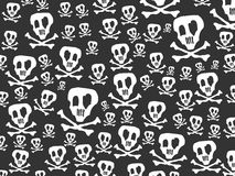 Seamless skulls and bones background Stock Photography