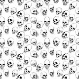 Seamless with skulls man graphic vector Stock Image