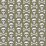 Seamless skulls pattern Stock Image