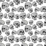 Seamless Skulls White Royalty Free Stock Images