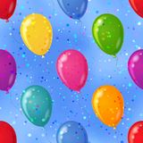 seamless sky för bakgrundsballong Royaltyfri Illustrationer