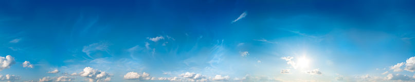 Seamless sky panorama royalty free stock image
