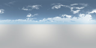Seamless 360 Sky Panorama Stock Photo