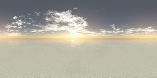 Seamless 360 Sky Panorama Sunset Royalty Free Stock Image