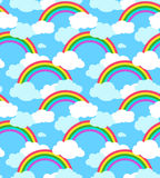 Seamless sky pattern cloud and rainbow Stock Photography
