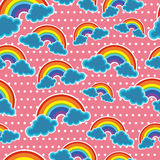 Seamless sky with rainbow Royalty Free Stock Image