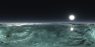 Seamless 360 Sky Sea Landscape Panorama stock photo