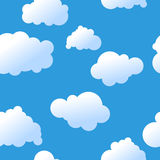 seamless skyvektor Arkivfoton